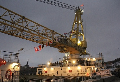 Oboronlogistics carried out the sea towing of the floating crane SPK-53150